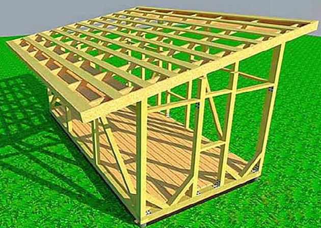 Как построить сарай 5х3 своими руками 76