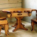 Мебель для беседки из разных материалов