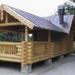 Баня с беседкой и барбекю под одной крышей