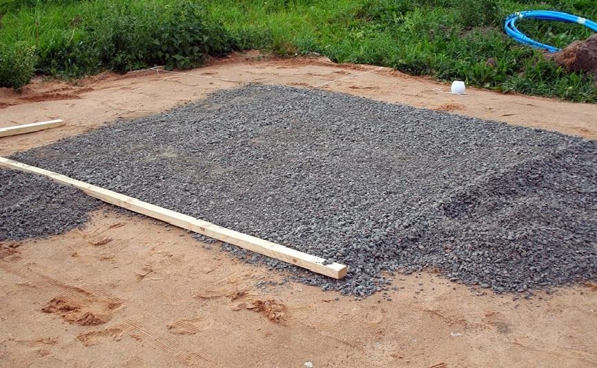 Фундамент из гравия