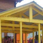 Двухскатная крыша для беседки