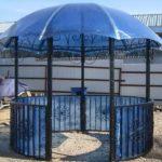 Крыша для беседки из поликарбоната — красиво и не дорого