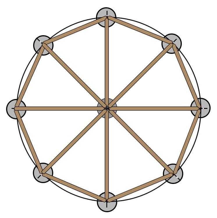 Схема восьмигранной беседки