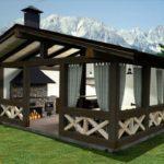 Беседка «Шале»: альпийский летний домик на загородном участке