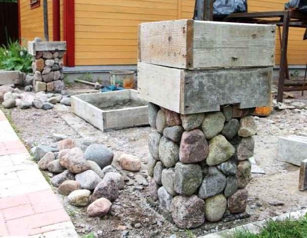 Беседки из камня