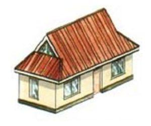 Полувальмовая четырехскатная крыша для беседки