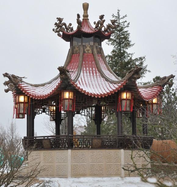 Беседка в китайском стиле