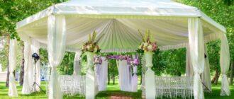 Беседки для свадебного банкета